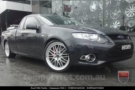 20x8.5 20x9.5 Simmons FR-1 Silver on FORD XR6