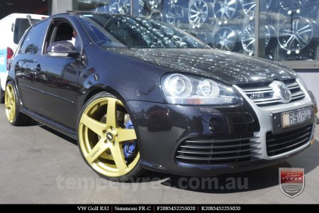 20x8.5 20x10 Simmons FR-C Full Gold on VW GOLF