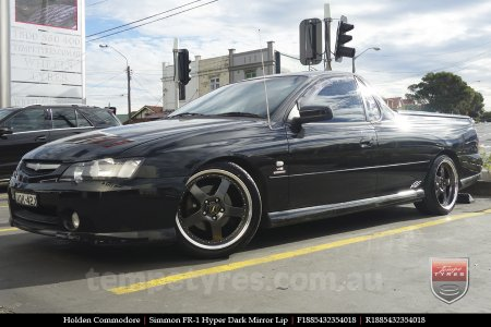 18x8.5 18x9.5 Simmons FR-1 Hyper Dark on HOLDEN COMMODORE