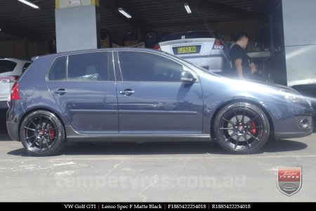 18x8.5 Lenso Spec F MB on VW GOLF