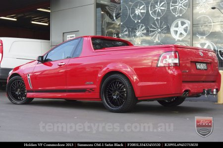 20x8.5 20x9.5 OM20-1 Flat Black on HOLDEN VF COMMODORE