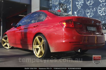 20x8.5 20x10 Simmons FR-CS Gold on BMW 320d F30