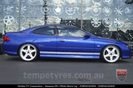 20x8.5 20x9.5 Simmons FR-1 White on HOLDEN VY COMMODORE