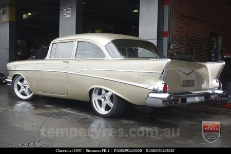 20x8.5 20x9.5 Simmons FR-1 Silver on CHEVROLET 1957