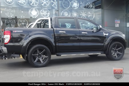 20x9.5 Lenso Z01 Black on FORD RANGER