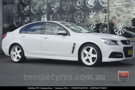 20x8.5 20x9.5 Simmons FR-1 White on HOLDEN VF COMMODORE