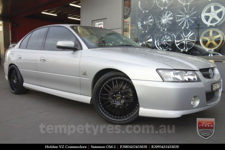 20x8.5 20x9.5 Simmons OM-1 Satin Black on HOLDEN VZ COMMODORE
