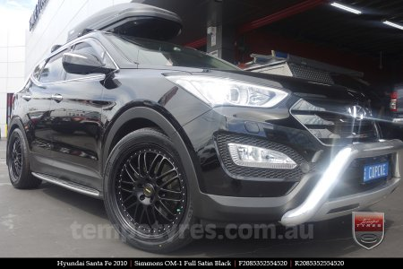 20x8.5 20x9.5 Simmons OM-1 Satin Black on HYUNDAI SANTA FE