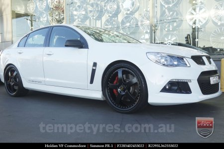 22x8.5 22x9.5 Simmons FR-1 Full Satin Black on HOLDEN COMMODORE VF