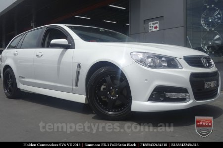 18x8.5 18x9.5 Simmons FR-1 Satin Black on HOLDEN COMMODORE