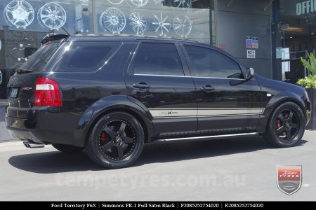 20x8.5 20x9.5 Simmons FR-1 Satin Black on FORD TERRITORY