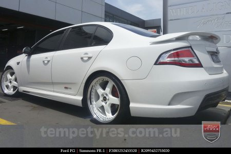 20x8.5 20x9.5 Simmons FR-1 White on FORD FG