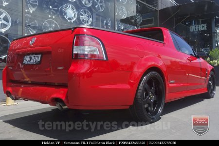 20x8.5 20x9.5 Simmons FR-1 Satin Black on HOLDEN VF COMMODORE