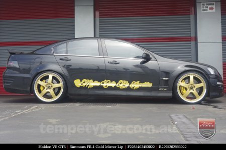 22x8.5 22x9.5 Simmons FR-1 Gold on HOLDEN VE GTS