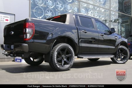 20x9.0 Simmons S6 Matte Black on FORD RANGER
