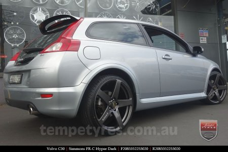 20x8.5 20x10 Simmons FR-C Hyper Dark on VOLVO C30