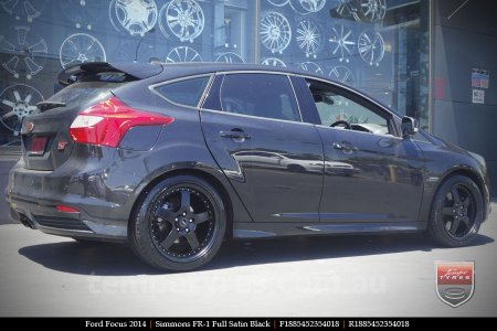 18x8.5 18x9.5 Simmons FR-1 Satin Black on FORD FOCUS