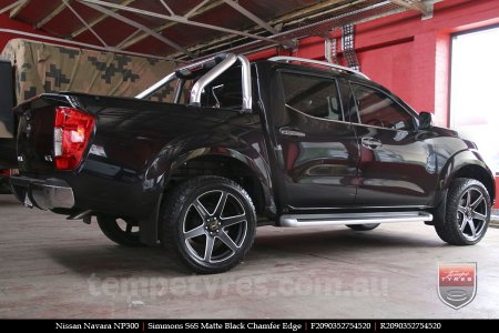 20x9.0 Simmons S6S Matte Black on NISSAN NAVARA NP300
