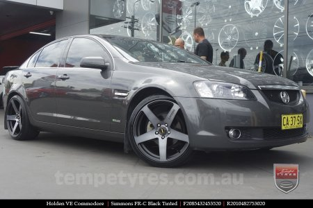 20x8.5 20x10 Simmons FR-C Black Tinted on HOLDEN COMMODORE VE