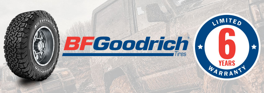 Tempe Tyres offers a warranty for the life of the original usable tread pattern or six years from the date of purchase on all BF Goodrich Tyres.