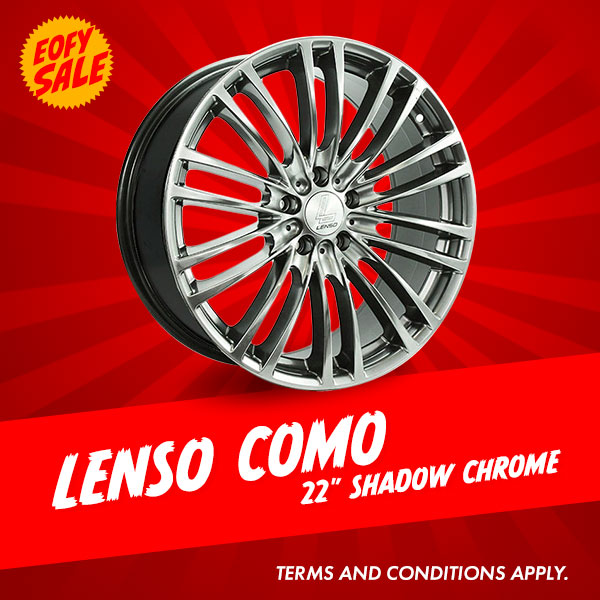 Special Offer: 22 Inch Lenso Como Shadow Chrome Package from $1816