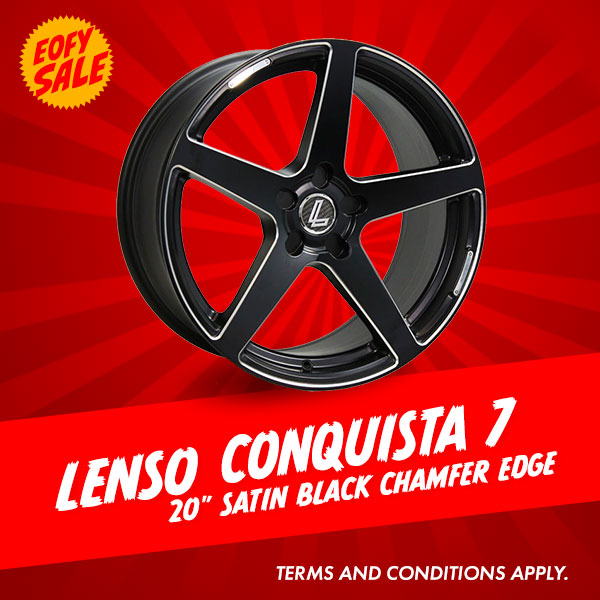 Special Offer: 20 Inch Lenso Conquista7 Satin Black from $1548