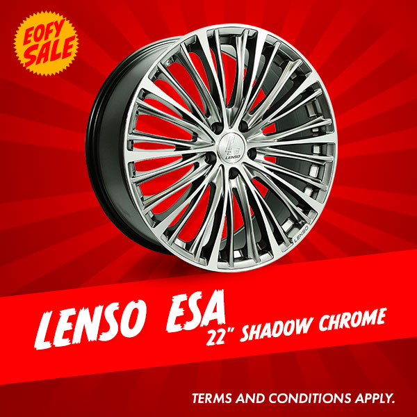 Special Offer: 22 Inch Lenso ESA Shadow Chrome Package from $2016