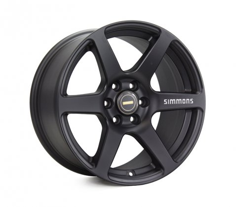 17x9.0 Simmons S6 Matte Black - Simmons Wheels