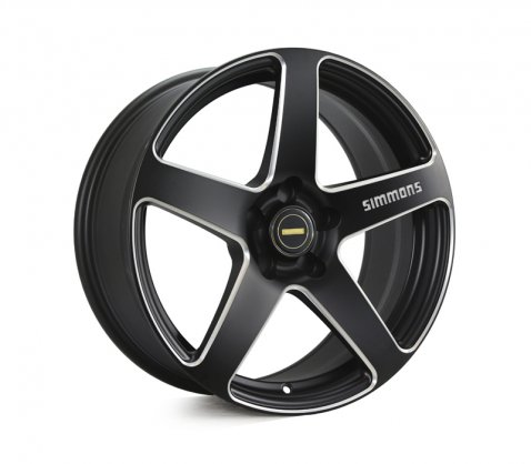 18x8.0 18x9.0 Simmons FR-CS Matte Black Chamfer Edge