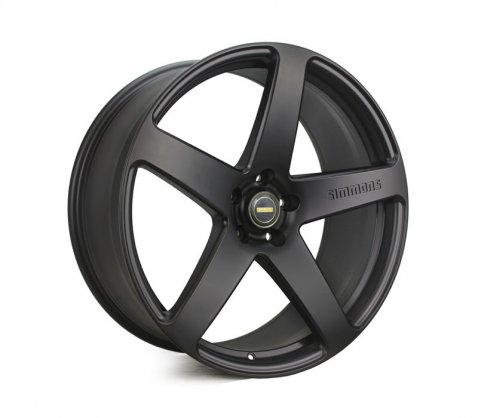 22x9.5 Simmons FR-C Full Satin Black NCT