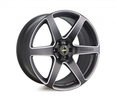 20x9.0 Simmons S6S Matte Black NCT - Simmons Wheels