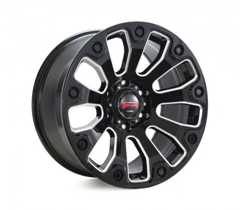 17x9.0 Simmons MAX X09 BKWA - Simmons Wheels