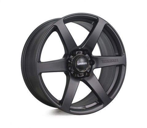 20x9.0 Simmons S6 Matte Black NCT - Simmons Wheels