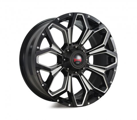 17x9.0 Simmons MAX X11 BKWAA 6/139.7 P20 - Simmons Wheels