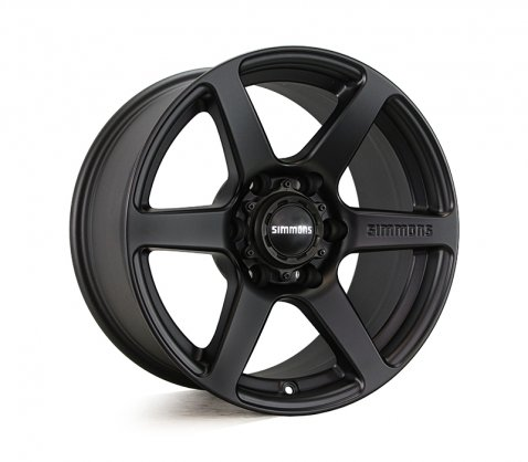 17x9.0 Simmons S6 Matte Black NCT - Simmons Wheels
