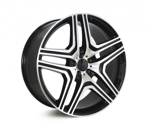 22x10 5346 ML63 Black Machined - Style By MB