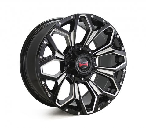 17x9.0 Simmons MAX X11 BKWAA - Simmons Wheels