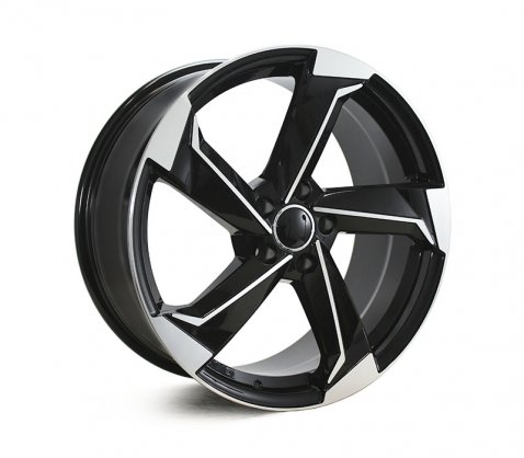 19x8.5 5627 Black Polished