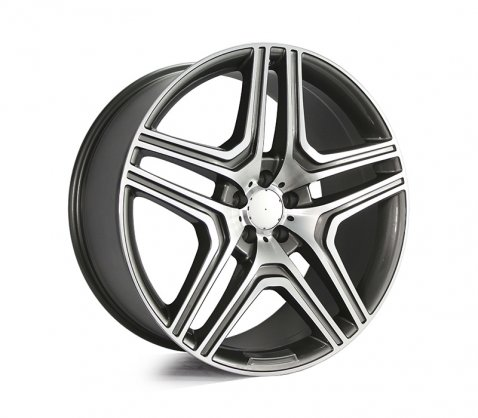 22x10 5346 ML63 Grey Polished - Style By MB