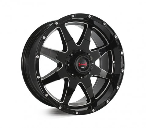 20x9.0 Simmons MAX T12 BKA - Simmons Wheels