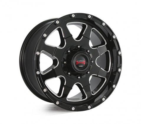 17x9.0 Simmons MAX T12 BKA - Simmons Wheels