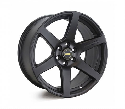18x9.0 Simmons S6 Matte Black NCT - Simmons Wheels