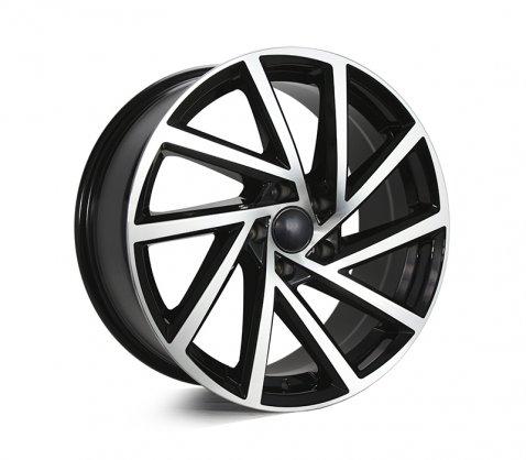 18x8.0 1361 Black Polished - Style By VW