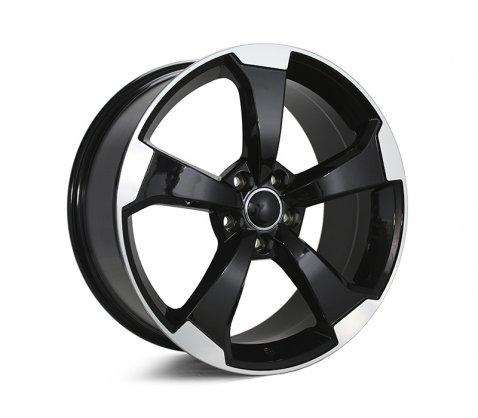 19x8.5 5612 Black Machined Polished - Style By AU