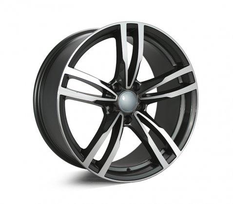 19x8.5 5468 Dark Grey Polished - Style By BM