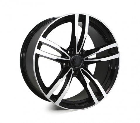 19x8.5 5468 Black Polished - Style By BM