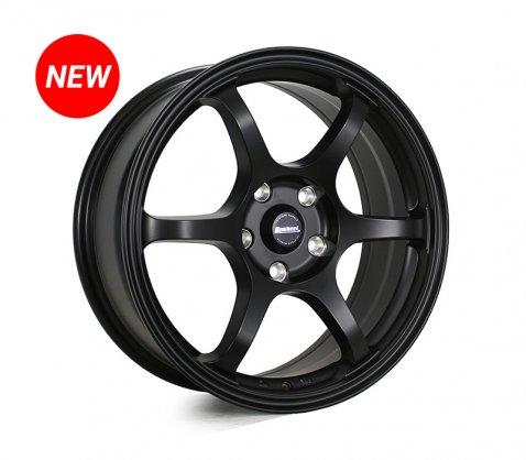17x7.0 SC Racing LS208 Matte Black - SC Racing Wheels