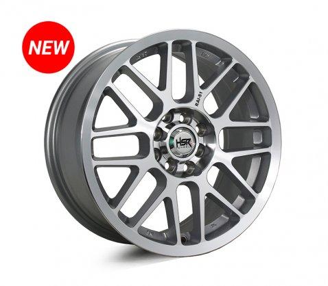 16x7.0 SC Racing LS20 Silver Milling Black - SC Racing Wheels