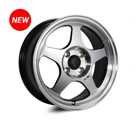 15x6.5 SC Racing LS119 Machined Black - SC Racing Wheels