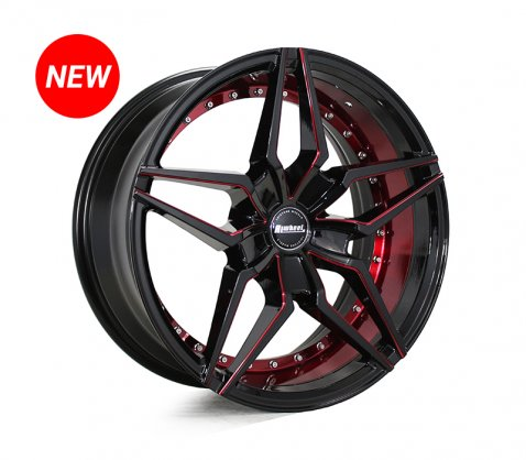 17x7.5 SC Racing LS2100 Black Red - SC Racing Wheels